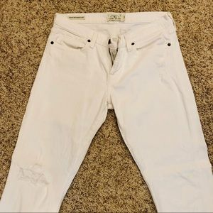 White Denim Lucky Brand Sienna Weekender Crop Pant